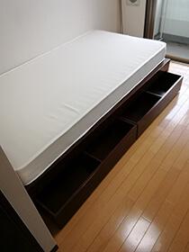 収納付きベッド(マットレス付き)
